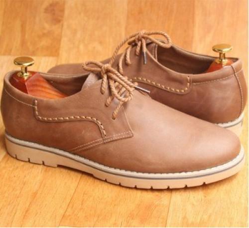 Giày da kiểu dáng Dr Martens da bò màu nâu đất