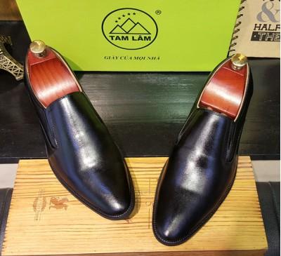 Giày lười công sở kiểu dáng thanh niên da bò xịn